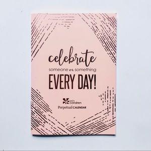 ERIN CONDREN • Pink + Gold Perpetual Calendar